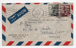 - Lettre MADRID Pour PARIS 19.1.1949 - Bel Affranchissement Philatélique - - 1931-50 Cartas