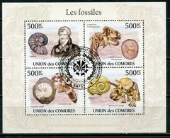 Comoros 2009 (2010) KU013 Fossils. Archeology. Dinosaurs. Georges Cuvier, 1769-1832 - Archéologie