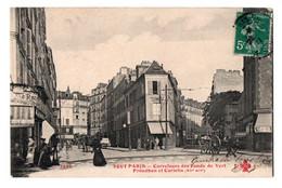CPA  Collect F.Fleury 1309 - Tout Paris  Carrefours Des Fonds Verts Proudhon Et Coriolis XVII Arrt Recto-verso 1911 - Distretto: 17