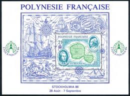 POLYNESIE 1986 - Yv. BF 12 (PA 192) **   Faciale= 1,76 EUR - Expo Phil. Stockholmia'86  ..Réf.POL25644 - Blocchi & Foglietti