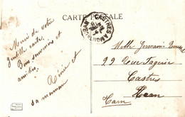 N°12731 Z -cachet Convoyeur (ambulant) -Castre à Montauban- - Correo Ferroviario