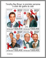 TOGO 2019 MNH Timothy Ray Brown AIDS SIDA M/S - OFFICIAL ISSUE - DH1933 - Disease