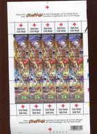 Belgie 2003 3163/65 Red Cross Stampilou BD Comics Strips F3163/65 Full Sheet Plaatnummer 1 (velnr 82727 11/3/2003) - Panes