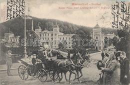 AK OLD  POSTCARD REPUBBLICA CECA - MARIENBAD - NEUBAD - KAISER FRANZ JOSEF UND KONIG EDUARD V. ENGLAND - VIAGGIATA 1904 - Repubblica Ceca