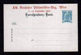 5 H. Privat Ganzsache Philatelisten Tag Wien 1902 - Ungebraucht - Covers & Documents