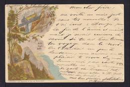 1887 -10 C. Ganzsache Mit Farbiger Abbildung Arth-Rigi-Bahn - Gebraucht Ab Luzern - Covers & Documents