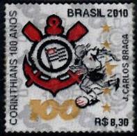 Brazil 2010 MNH ** Scott 3146 Unusual Stamp On Cloth/Textil - 100 Years Soccer Club Corinthians Sport Football Fussball - Nuevos
