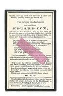 DD 685. EDUARD COX - °SINT-TRUIDEN 1877 En Aldaar + 1920 - Devotion Images