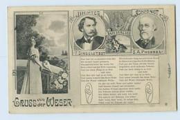 W2F38/ Hann. Münden AK Dichter Dingelstedt Komponist Pressel Weserlied 1914 - Unclassified