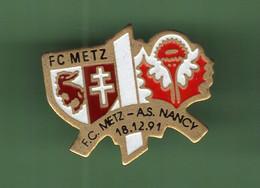 FOOT *** FC METZ - AS NANCY 18.12.91 *** 2106 (2) - Fussball