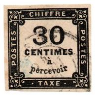 Timbre Taxe (chiffre Taxe) De 30 C à Percevoir - 1878 - YT TT N° 6 - Sans Charnière - Oblitéré - 1859-1955 Gebraucht