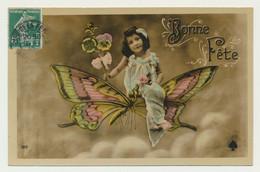 Carte Fantaisie - Enfant Papillon - Other