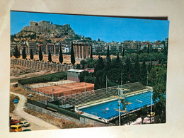 Water Polo Competition Swimming Pool Tennis Field Sport Greece Hellas Athens Acropolis M0221 Post Card POSTCARD - Otros