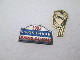PIN'S   Lot 2  PARIS DAKAR   1992 - Rallye