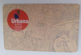 Slovenia Ljubljana Bus Ticket Urbana Plastic  Card - Andere