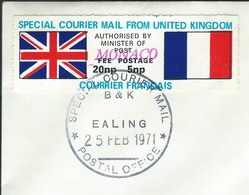 MZ-/-054- TIMBRE DE GREVE - ANGLETERRE - MONACO - 26/02/71 , OBL. TTB , SUR LETTRE Pour L'HOTEL DE PARIS - Used Stamps