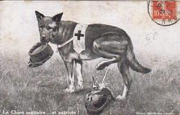 AK Le Chien Sanitaire .... Et Patriote - Franz. Sanitätshund - Pickelhaube Patriotika Propaganda - 1915 (56501) - War 1914-18