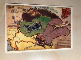 Hungary Hungarian History Revisionist Military Graphic Art Propaganda 1920 Trianon Treaty Repro M0239 Post Card POSTCARD - Histoire