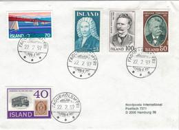 Fagurholsmyri 1982 - Magnusson - Thoroddsen - Bjarni Þorsteinsson - Marke Auf Marke - Lettres & Documents