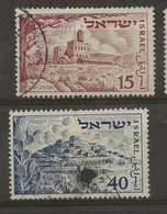 Israel, 1951, SG 56 - 57, 3rd Anniversary Of State Of Israel, Used - Used Stamps (with Tabs)