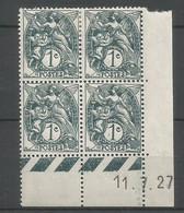 Coins Date France   Neuf * N 107 Année 1927 Charnier En Haut - ....-1929