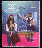 MEXICO, 2020, MNH,HEROES, COVID-19, HONOURING POSTAL WORKERS,1v - Malattie