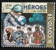 MEXICO, 2020, MNH,HEROES, COVID-19, FIREMEN, POSTAL WORKERS,1v - Malattie