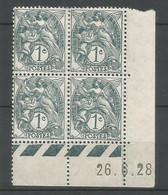 Coins Date France   Neuf * N 107 Année 1928 Charnier En Haut - ....-1929