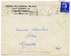 "89 Asquins - Enveloppe  ""Hôtel Du Cheval Blanc ""  - 1958 - Voir Scan - 1921-1960: Periodo Moderno"