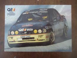 Carte Q8 Team FORD SIERRA Cosworth 4 X 4,  RALLYE - Alex FIORIO / Luigi PIROLLO - ( 21 X 14 Cm) - Car Racing - F1