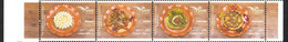 Lebanon NEW 2020 MNH Set Of 4v. In One Strip - Euromed Joint Issue, Traditional Lebanese Food - Ernährung