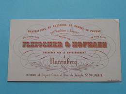 FLEISCHER & HOFMANN A NURENBERG Manufact De Couleurs De Bronze En Poudre ( Porcelaine / Porzellan ) See SCANs ! - Visiting Cards