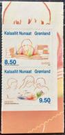 GREENLAND 2010 MNH STAMP ON CHILDREN'S BOOK, BOYS & GIRLS READING  IMAGE 2 DIFFERENT STAMPS - Ungebraucht