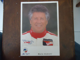 Carte PANOZ 24 Heures Du MANS (2000 ?) - MARIO ANDRETTI - ( 21 X 14 Cm) - Car Racing - F1