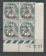 Coins Date France   Neuf * N 157 Année 1927  Charnière  En Haut - ....-1929
