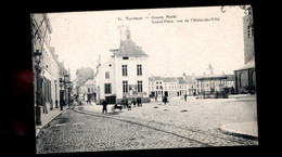 1463-TURNHOUT- Markt Stadhuis- Place Hotel De Ville-kiosque-feldpost Censure WWI MILITARIA Landsturm NEUSS-BERTELS 51 - Turnhout
