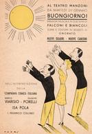 ONORATO - BUONGIORNO Al Teatro MANZONI - FANTASIA MUSICALE - NON VIAGGIATA - Non Classés