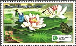 TAJIKISTAN, 2020, MNH, PLANET HEALTH, FLOWERS, INSECTS, FROGS,1v - Sonstige