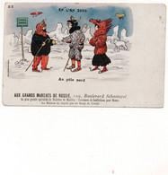 AUX GRANDS MARCHES DE RUSSIE - NON VIAGGIATA - Publicité