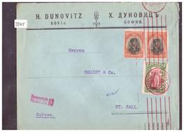 BULGARIE - COURRIER CENSURE POUR LA SUISSE - VOIR 2 IMAGES POUR LES DETAILS - !!! NO PAYPAL !!! - Cartas