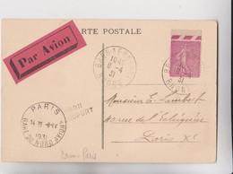 AVIATION - OBLITERATION Au Départ BRON AEROPORT En 1931 Avec Cachet D'arrrivée PARIS GARE Du NORD AVION Et Vignette NET - Correo Aéreo
