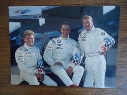 Photo De Presse Pilotes BMW V12 LMR ( 24 Heures Du Mans ) : Tom Kristensen / Jörg Müller / JJ Letho )  ( 24 X 17 Cm) - Sports