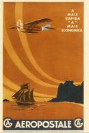 Mémoire D'Aéropostale,l'Afrique Du Nord Par Avion, Carte Postale (entier Postal) Neuf - 1919-1938: Between Wars