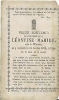 DP.  LEONTINE MAHIEU ° WERVICQ - + 1892 - 8 ANS - Religion & Esotericism