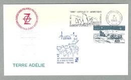 1983 TAAF / FSAT PLI TRAINEAUX A CHIENS - 30E ANNIVERSAIRE DE LA BASE DE POINTE GEOLOGIE EN TERRE ADELIE - Covers & Documents