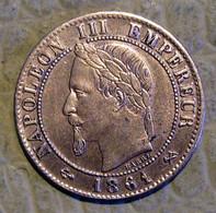 PIECE DE 1 CENTIME NAPOLEON III - 1861 K SPLENDIDE - A. 1 Centime