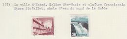 SUEDE USED YVERT 827, 828 & 794/95 Ystad, Stora Sjofallet & Gustave VI - Used Stamps