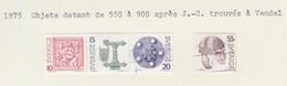SUEDE USED YVERT 873/76, 871/72 & 871a Vendel & Femmes - Used Stamps