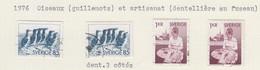 SUEDE USED YVERT 917/18 & 917b/18b Oiseaux & Dentelière - Used Stamps