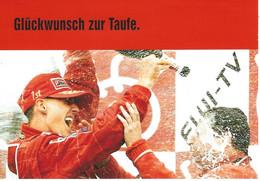 Werbepostkarte 50 Jahre BILD-Zeitung In Deutschland, Motiv: Michael Schumacher, Formel-1-Weltmeister - Grand Prix / F1